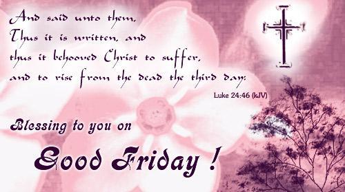 good friday message prayer