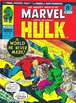 Mighty World of Marvel #144, Hulk vs Captain Axis