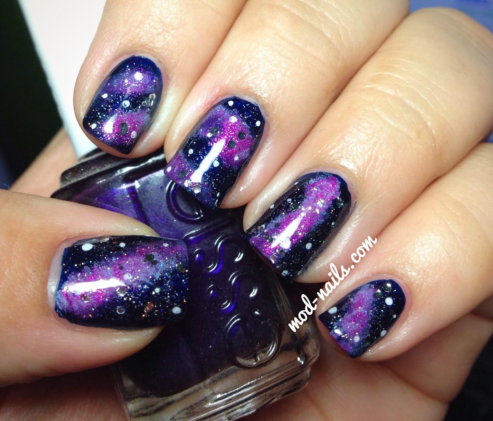 galaxy nails tumblr tutorial - photo #28