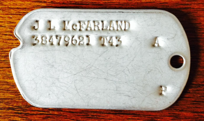 J. L.McFarland WW2 Dog Tag Found - Let's Return it to Family (Case #22)