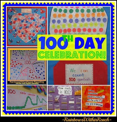 photo of: 100 Day Celebration Ideas for Art, Math + Science: KINDERGARTEN ROCKS!