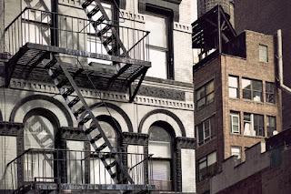 escape ladder on apartment building