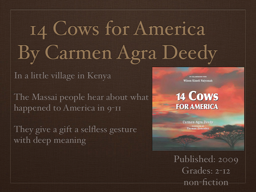 Young Adult Reading Machine 14 Cows For America By Carmen