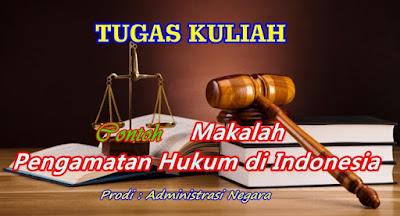CONTOH MAKALAH SISTIM HUKUM DI INDONESIA