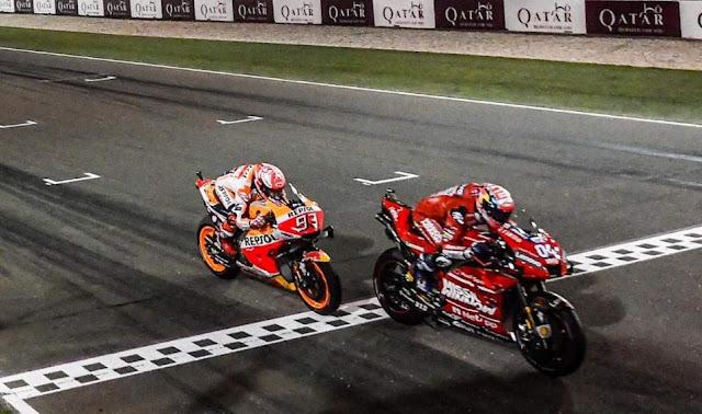 Dovizioso Juara Motogp Losail Qatar 2019 Duel Seru dengan Marquez