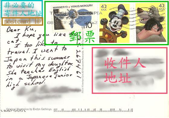postcard sample