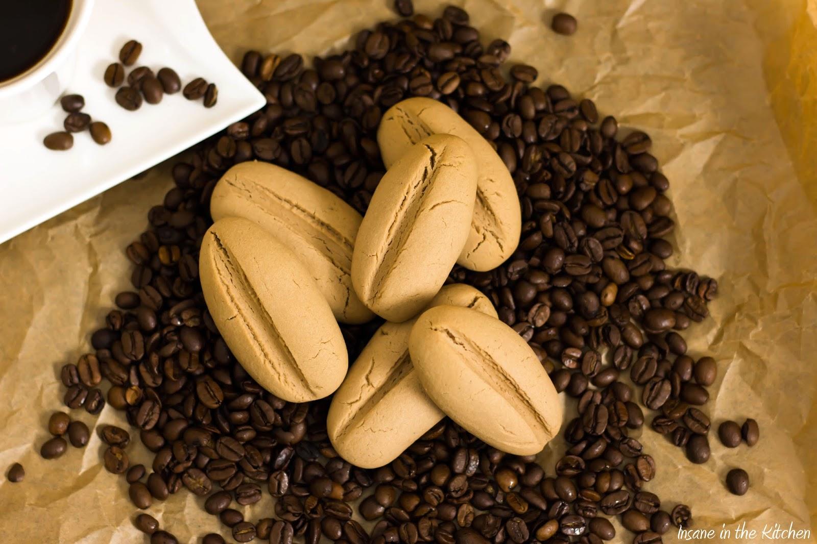 Kaffeebohnen Kekse
