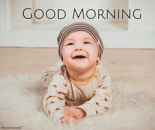 good morning with a babe smile newborn small child image