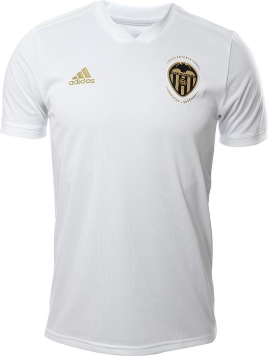 0b137a3134 O modelo é em homenagem aos 100 anos do clube, sendo totalmente branca com  o escudo em dourado e preto, contendo a palavra