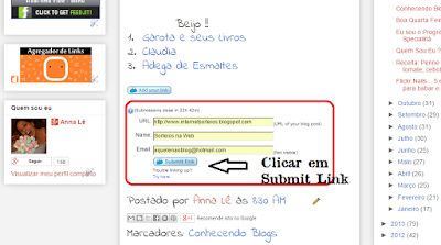 divulgação blogs links sites