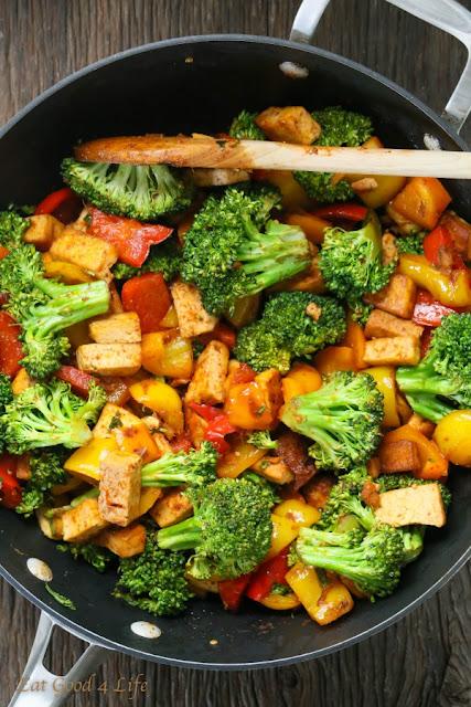 Healthy Tofu Stir Fry #veggiestirfry