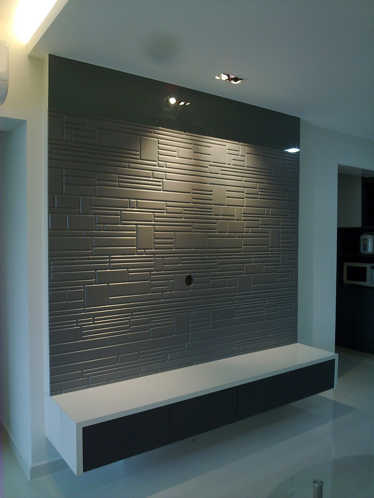 Feature Wall Light Grey : TV Wall Panel: TV Feature Wall Ideas