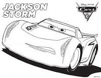 Disney Pixar's Cars 3 colouring page - Jackson Storm