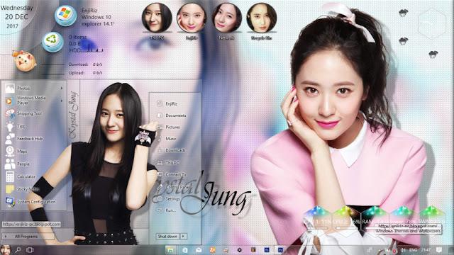 Windows 10 Ver. 1703 Theme Krystal Jung by Enji Riz