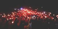 <b>LUTFI-FERI Disambut Ribuan Warga dan 2 Ribu Obor di Kelurahan Sarae</b>