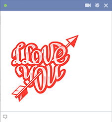 I love you sticker with arrow