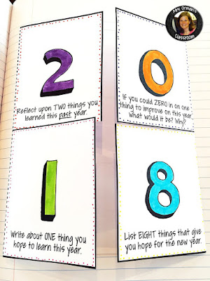 New year interactive notebook activities www.traceeorman.com