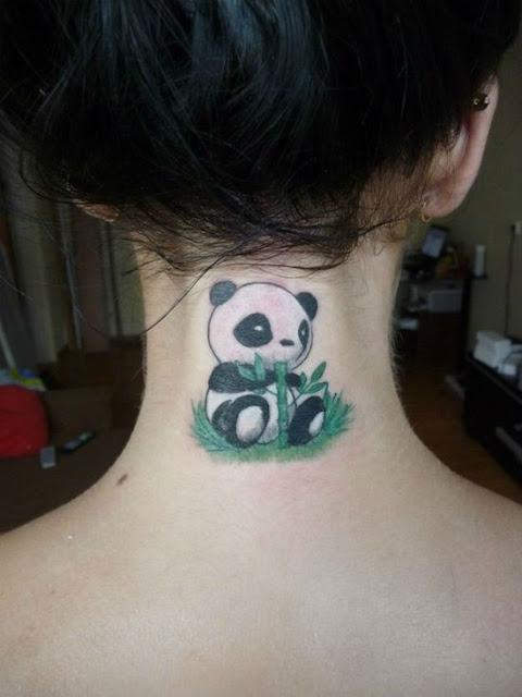 Adoráveis tatuagens de Pandas para inspirar os fãs desses adoráveis animais
