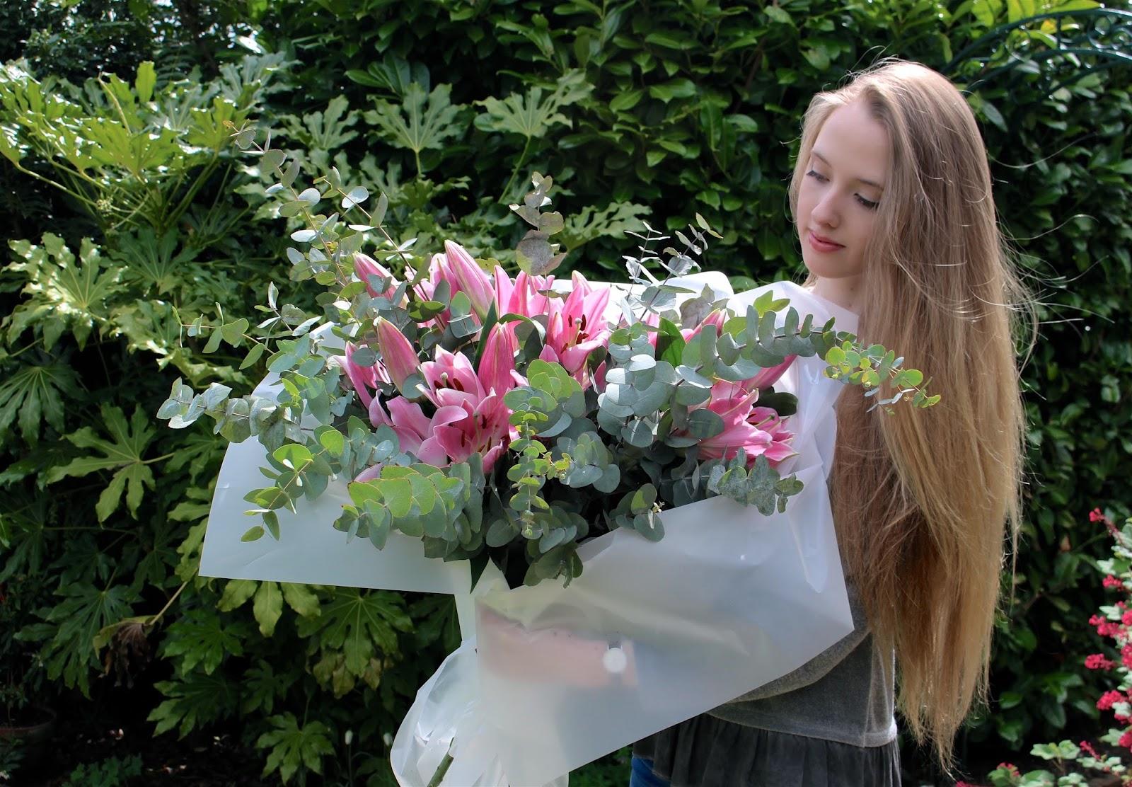 OK Bouquet Pink Lilies