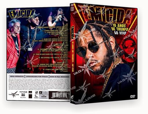 DVD – EMICIDA 10 ANOS 2018 – ISO