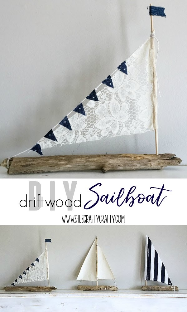 How to make a sailboat from driftwood and fabric