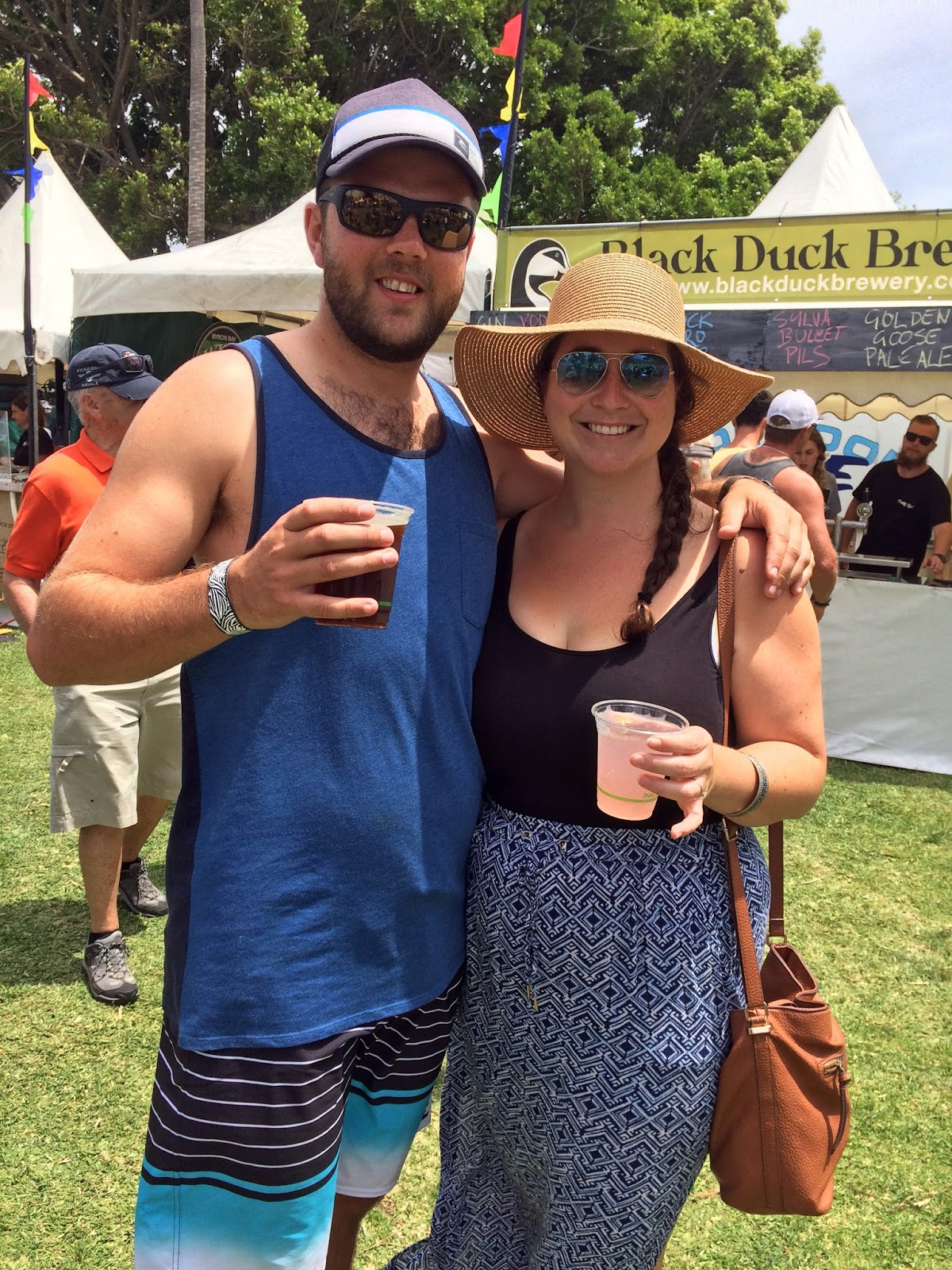 Couple at Port Macquarie Tastings on Hastings Festival Day
