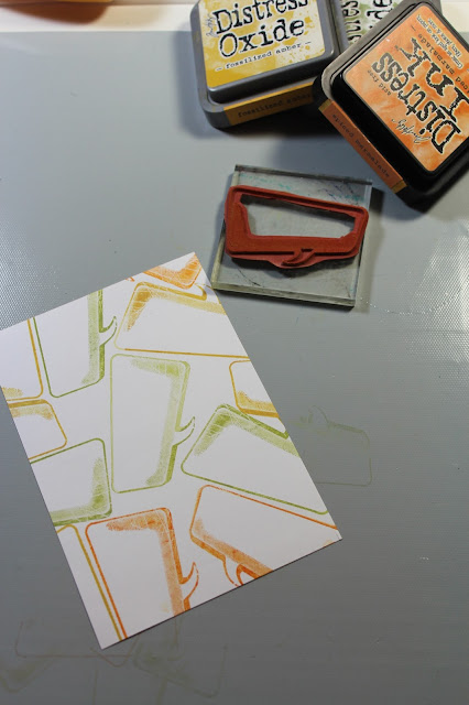 0318 NBUS Challenge Comics Journaling Block card #clubscrap #cards #masking #distressoxides