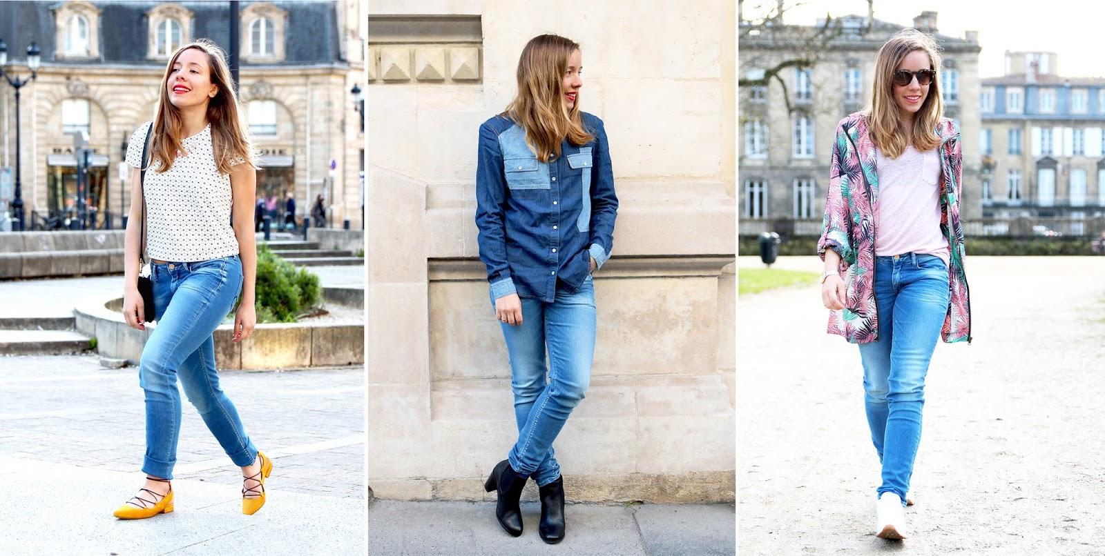 3 looks en jean