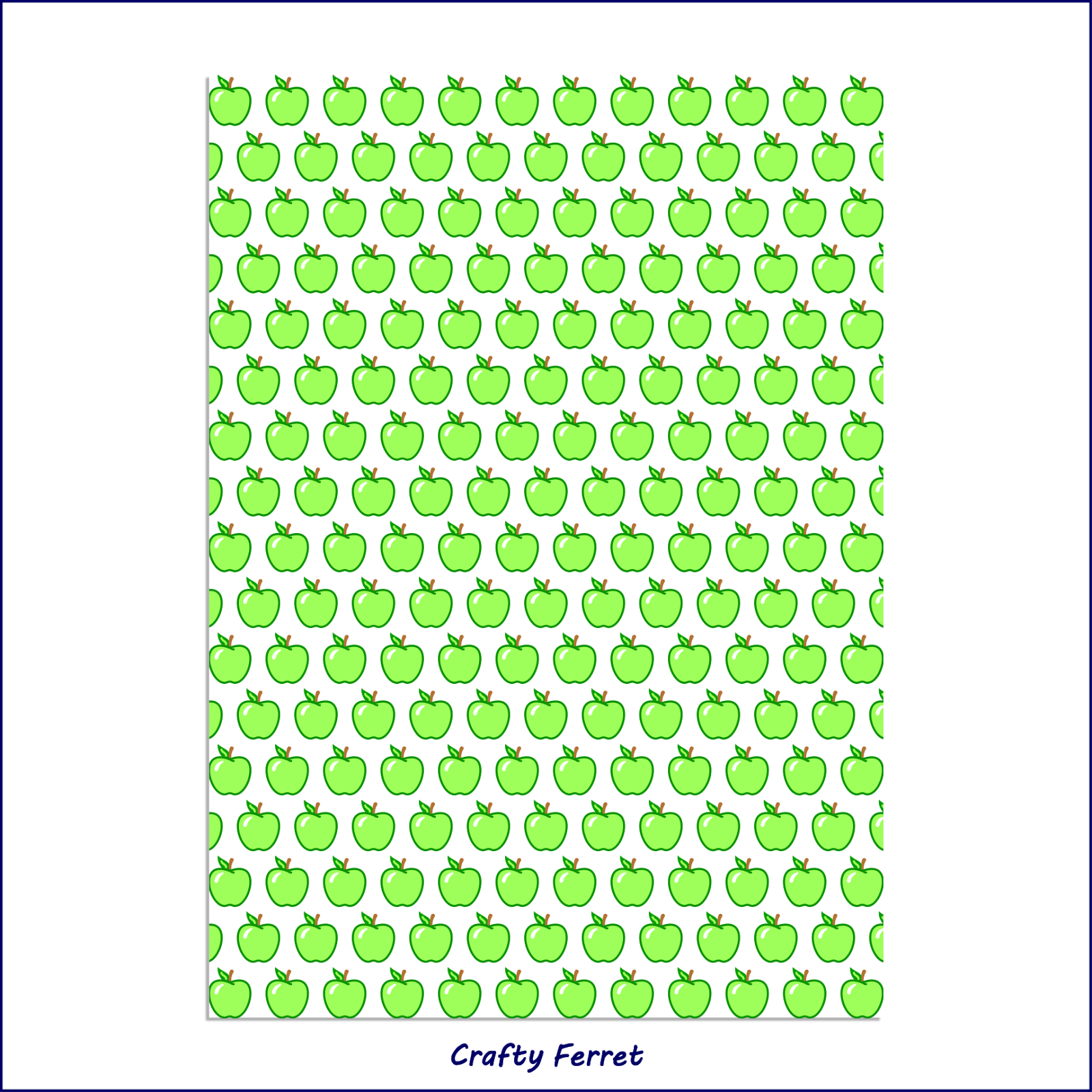 A4 printable green apple craft backing paper.