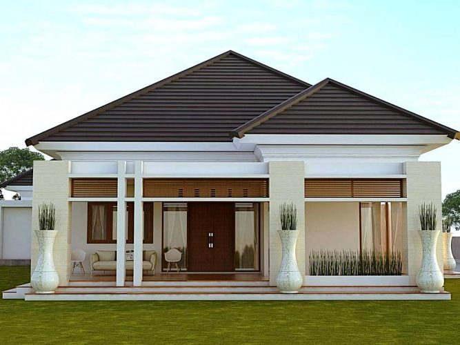 Model Rumah Mewah 1 Lantai
