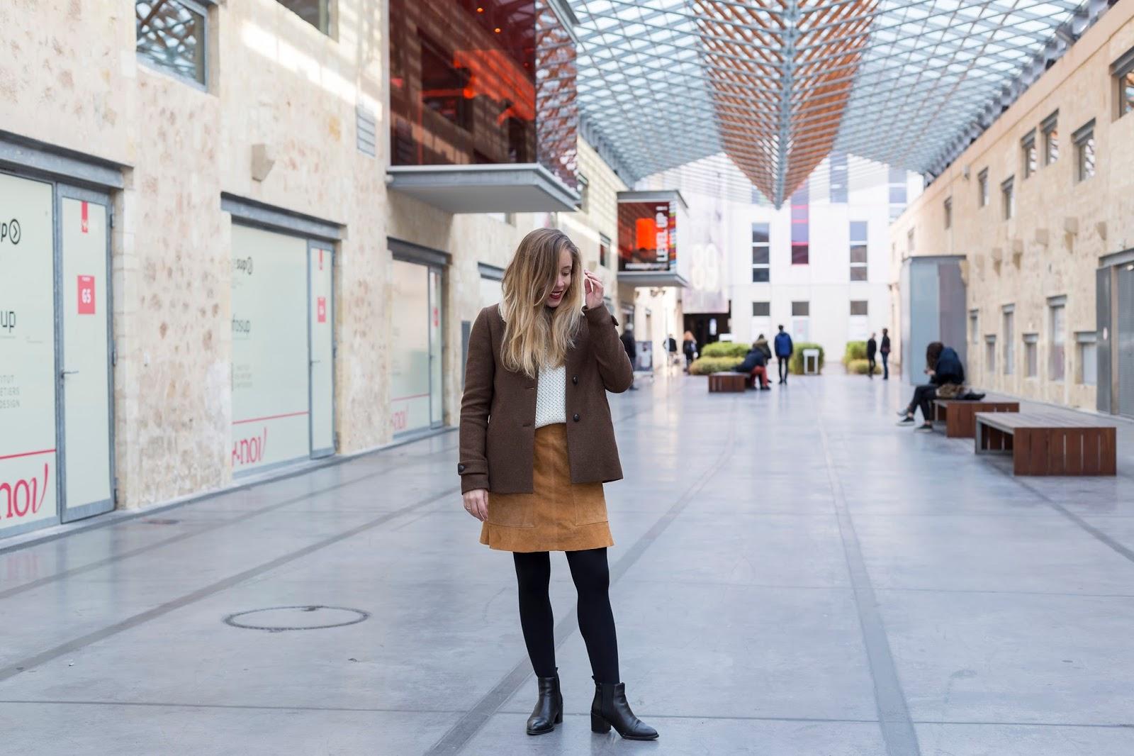 tenue hiver manteau marron