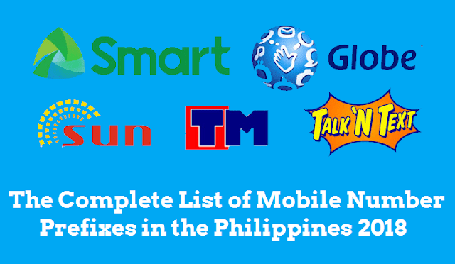 Updated List of Mobile Number Prefixes in the Philippines 2019
