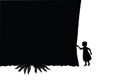 Ilustración en alto contraste de libro para niños.