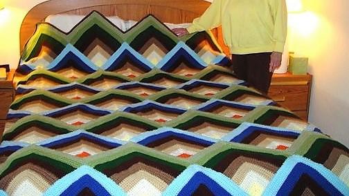 Crochet Afghan Pyramid
