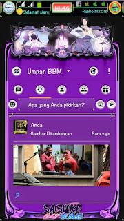 BBM MOD Sasuke Extra Fitur Clone and Unclone v3.1.0.13 APK Terbaru 2016 Gratis
