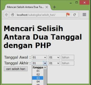 Cara Menghitung Selisih Hari antara Dua Tanggal di PHP