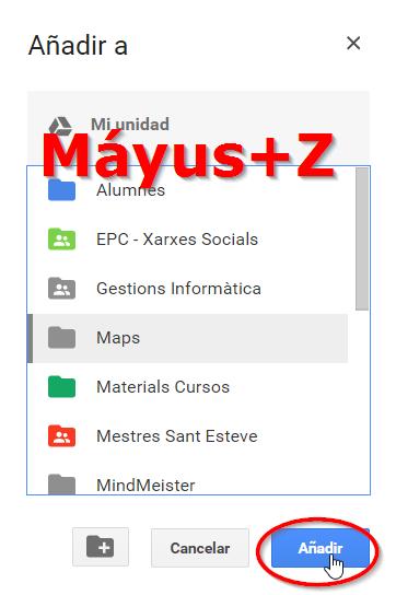 Replicar o añadir archivos en Google Drive