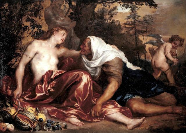 Antoon Van Dyck - Vertumno e Pomona - nudo pittorico