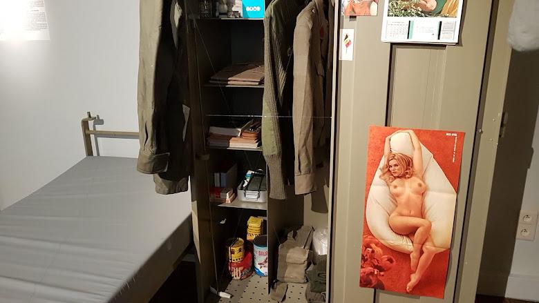 軍旅生活的宿舍展示