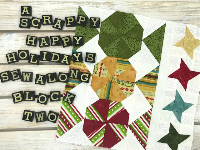 A Scrappy Happy Holidays Mystery Sew Along - Month 2 by Thistle Thicket Studio. www.thistlethicketstudio.com