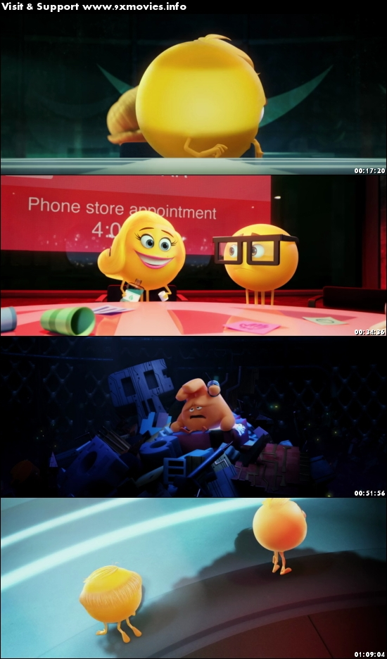 The Emoji Movie 2017 English 480p BRRip 300MB