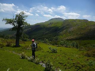 Pico ocejón desde el GR-60 siguendo el arroyo de la Chorrera