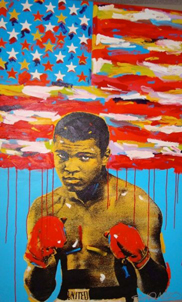 painting of Ali by pop artist John Stango