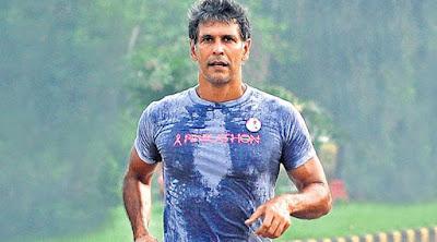 Milind Soman running