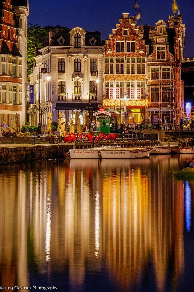 10 Best Places to Holiday in Belgium (100+ Photos) | Evening in Ghent, Belgium