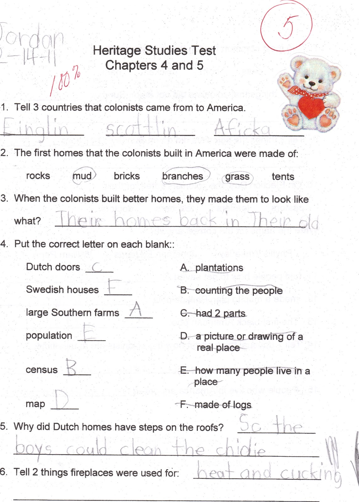 The Weaver S World Sunday Snapshot 2nd Grade History Test