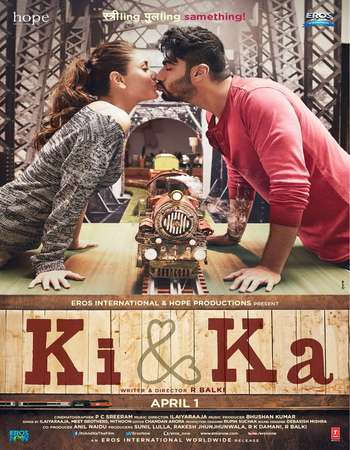 Poster Of Ki and Ka 2016 Hindi 350MB BRRip 480p ESubs Watch Online Free Download Worldfree4u