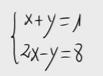 4 Sistema lineal de dos ecuaciones y dos incognitas. (Sustitución)