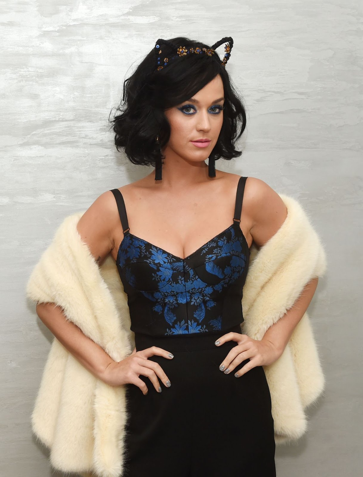 Katy Perry bares cleavage at the Katy Kat launch in NY