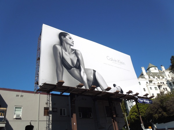 Sexy Christy Turlington Calvin Klein underwear model billboard
